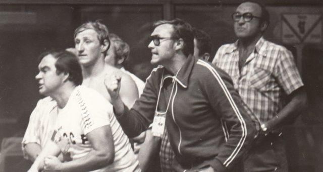 Олимпиада 1980 в Москве. На втором плане мой папа Владимир Акимов и Б.Д. Гришин