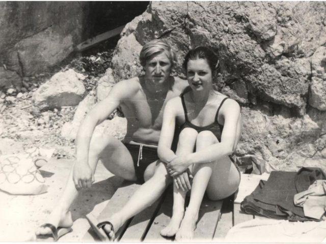Владимир с женой Светланой на море