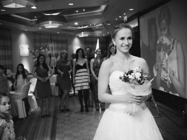 Букет невесты в зале Давос Swissotel
