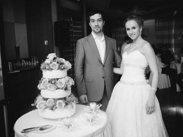 Свадебный торт в зале Давос