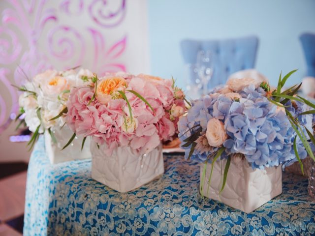 Флористические композиции для свадьбы в «О'Шалей»
