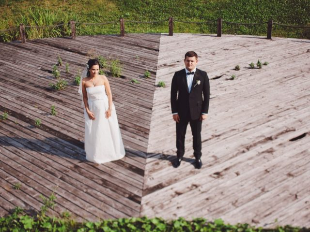 Свадебная прогулка на территории