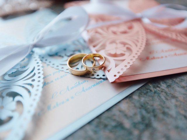 Свадебные кольца молодожёнов
