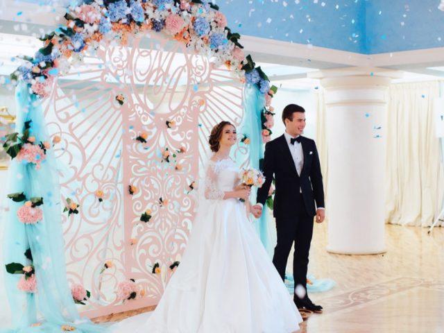 Церемония бракосочетания в Колонном зале