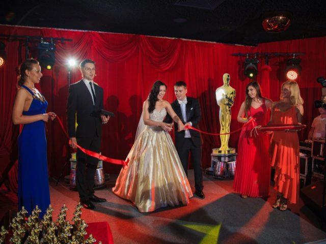 Церемония открытия свадьбы в стиле Оскар