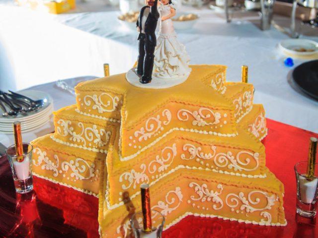 Торт на свадьбе в стиле Оскар