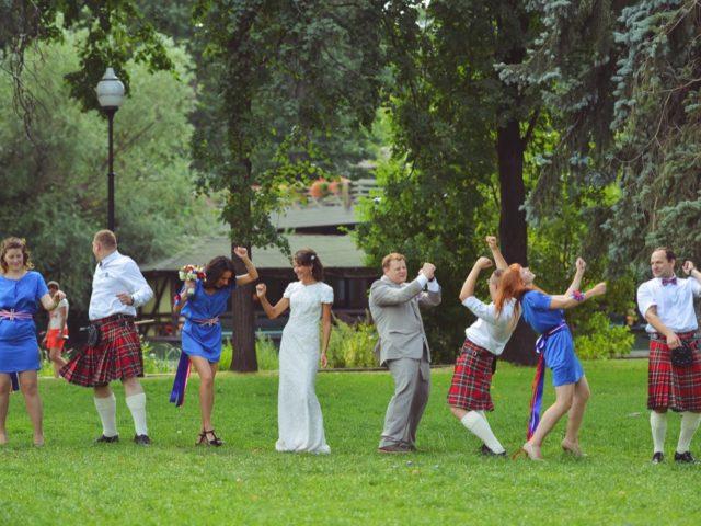 Танцы на свадебной прогулке