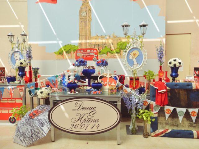 Сладкий стол на британской свадьбе
