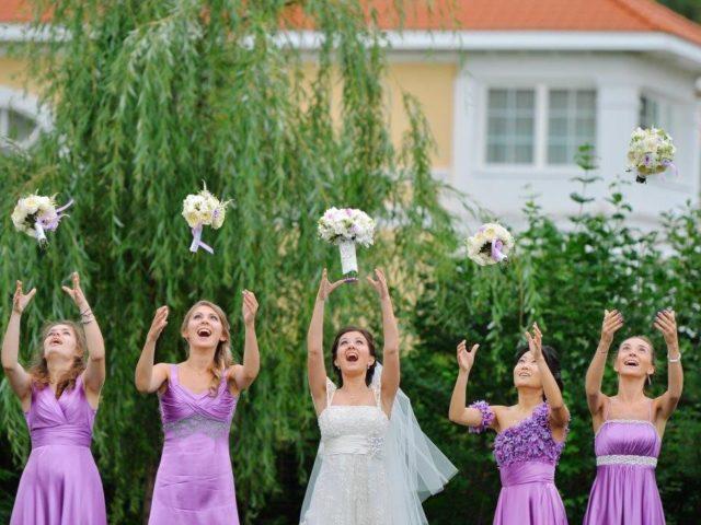 Утро невесты в загородном доме