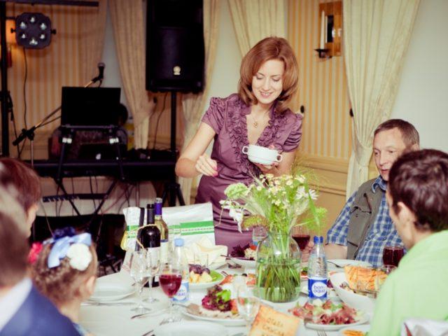 Екатерина Акимова на тематической свадьбе