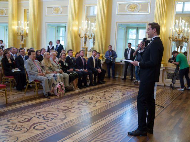 Выступление перед почётными гостями