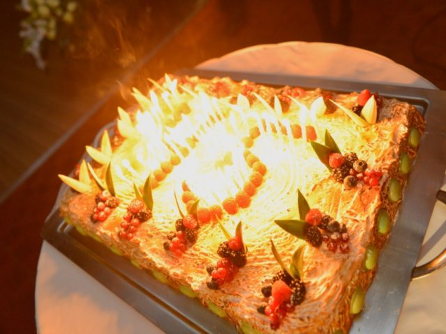 Торт на Юбилее 45 лет