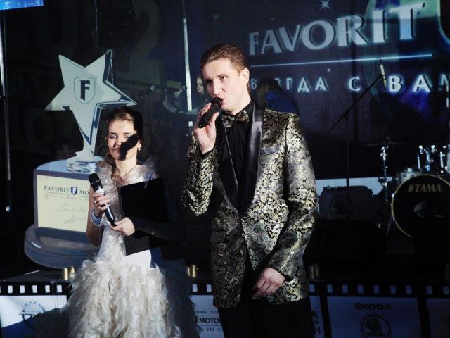 Ведущий Роман Акимов в дуэте с Марией Кузьминой