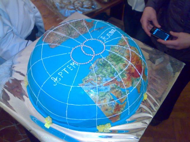 Торт на свадьбу Вокруг света