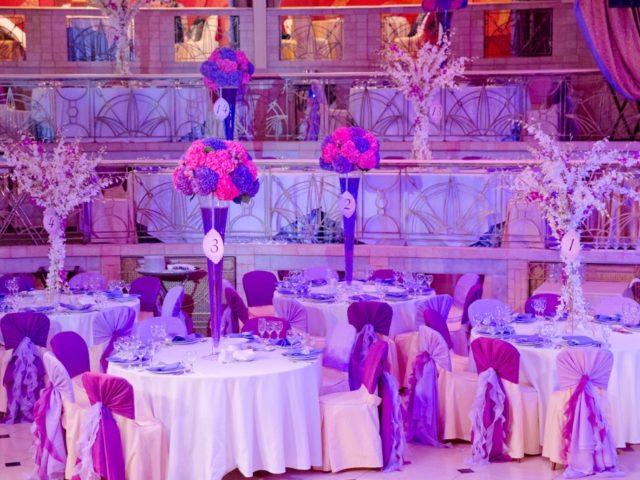 Сказочное оформление зала на свадьбе