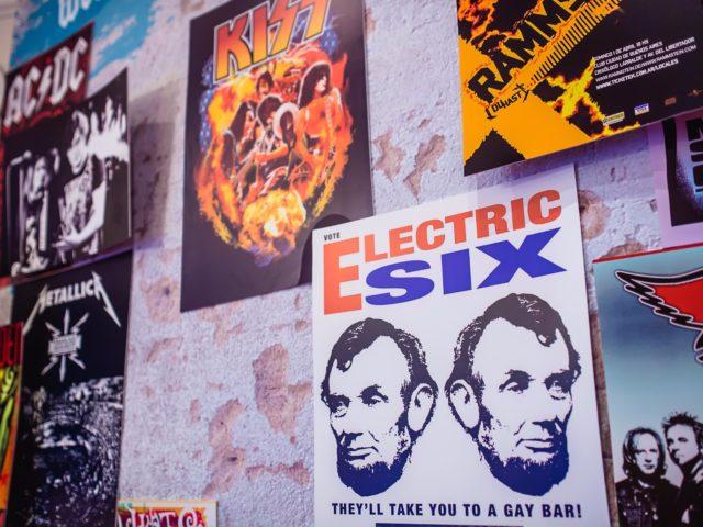 Фрагмент фотозоны в стиле рок
