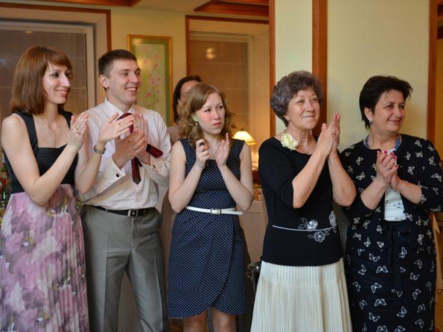 Гости на кофейной свадьбе
