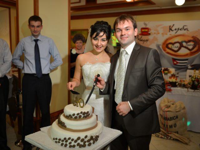 Свадебный торт на кофейной свадьбе