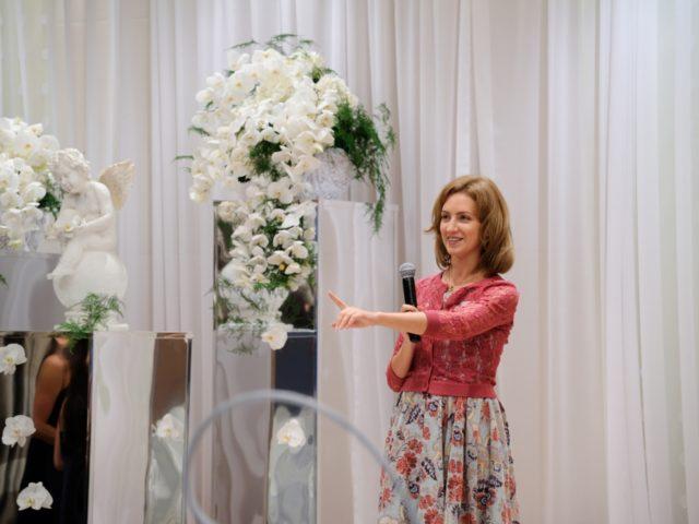 Организатор красивых свадеб Екатерина Акимова на репетиции