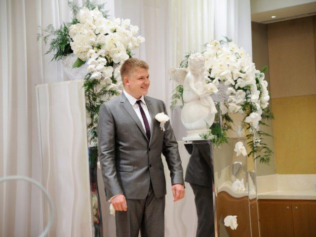 Жених Юрий на церемонии