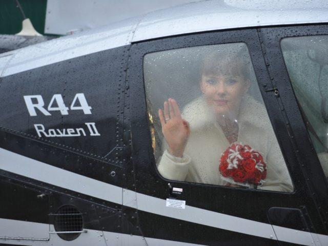 Прибытие невесты на вертолёте, 2010 год