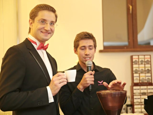 Кофейный мастер класс на клиентском вечере