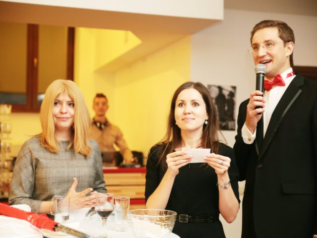 Лотерея с гостями клиентского вечера