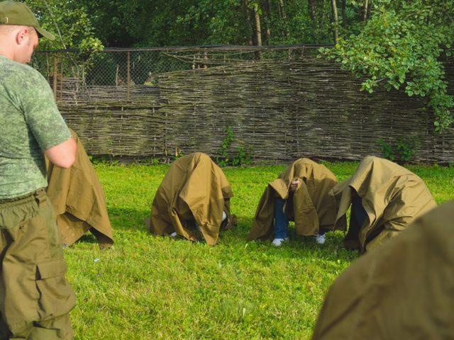 Тематическое испытание с плащ палатками