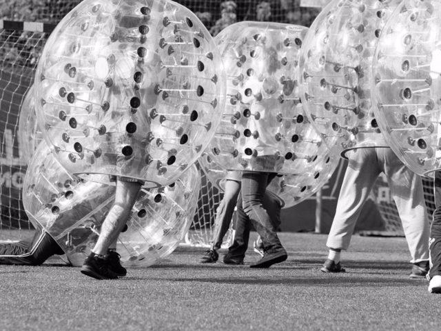 Бампербол на стадионе Метеор