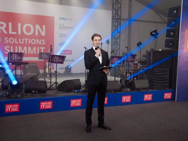 Ведущий делового мероприятия Роман Акимов