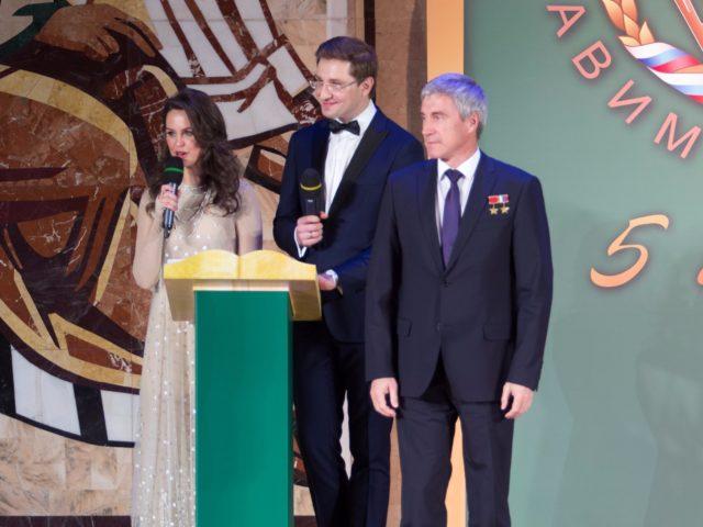 На сцене Герой Российской Федерации
