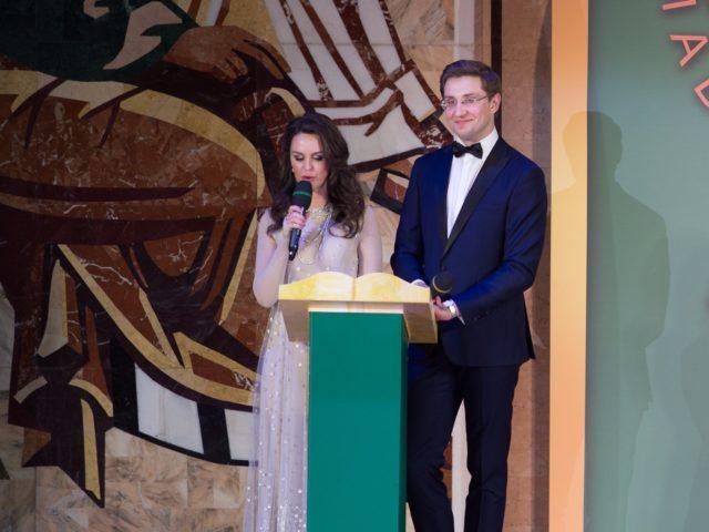 Ведущие федерального мероприятия Алёна Биккулова и Роман Акимов