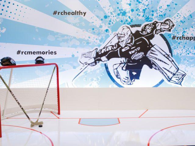Хоккейная фотозона на спортивной вечеринке