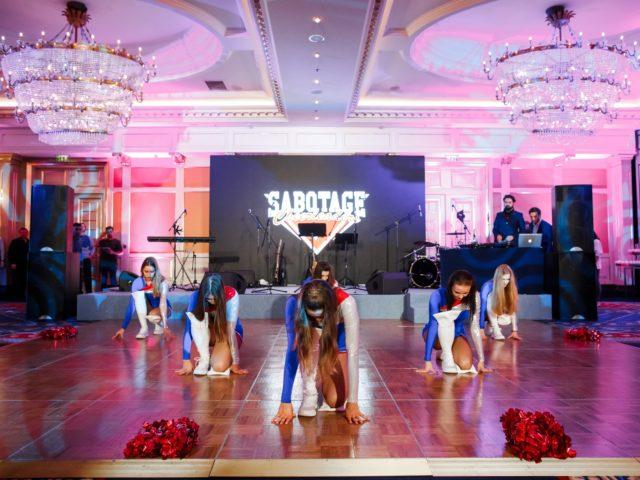 Программу спортивной вечеринки открыла команда Саботаж