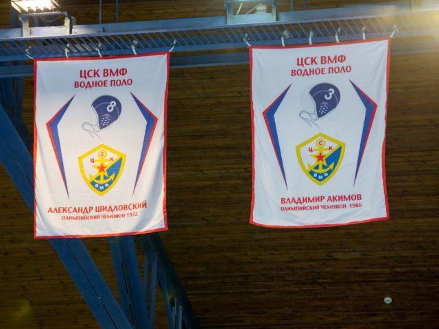 Александр Шидловский и Владимир Акимов на Аллее Славы Олимпийских Чемпионов ЦСК ВМФ