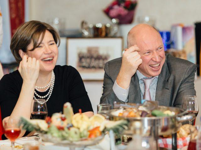Дети Бориса Дмитриевича Гришина Елена и Евгений