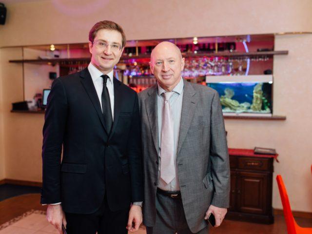 Роман Акимов и Олимпийский Чемпион по водному поло Евгений Гришин