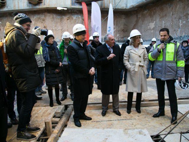 Официальная часть церемонии заливки первого куба бетона ЖК Пресня Сити