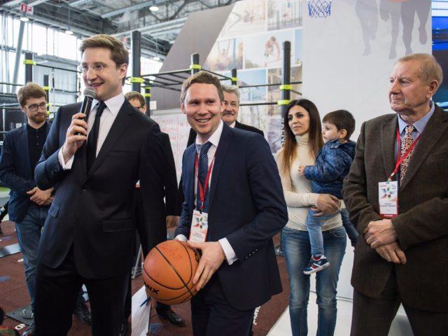 Проведение интерактива ведущим на выставке Спорт в Сокольниках