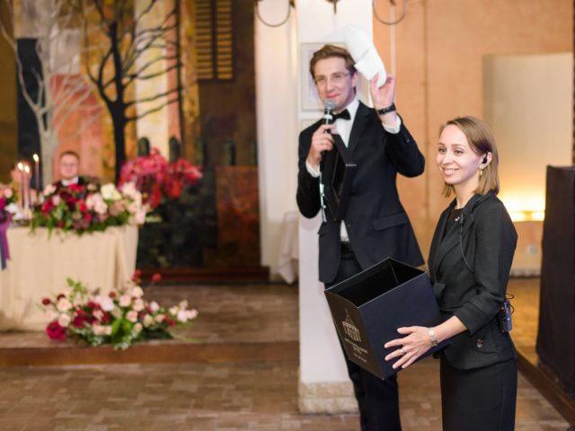 Вынос чёрного ящика на свадьбе в ресторане Belladgio