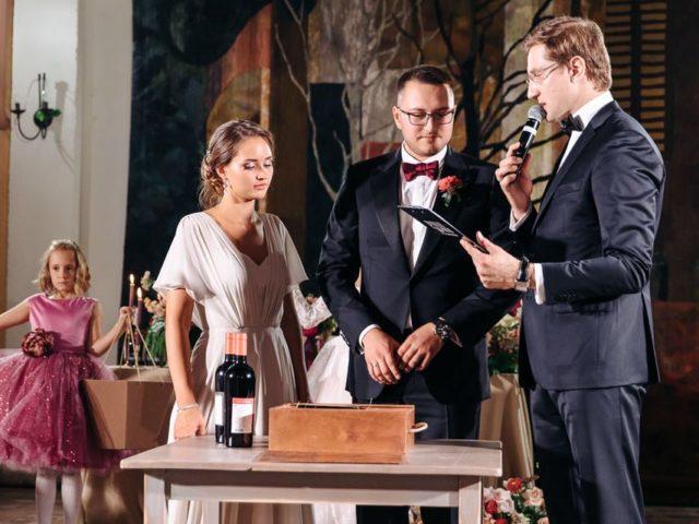 Проведение свадебной винной церемонии в Belladgio