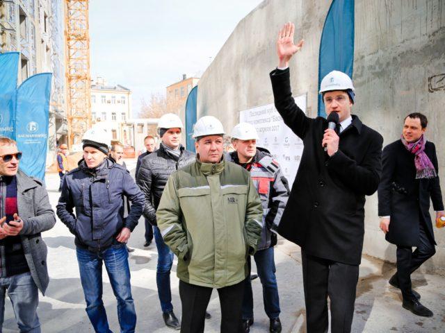 Церемония первого куба бетона в ЖК Басманный 5