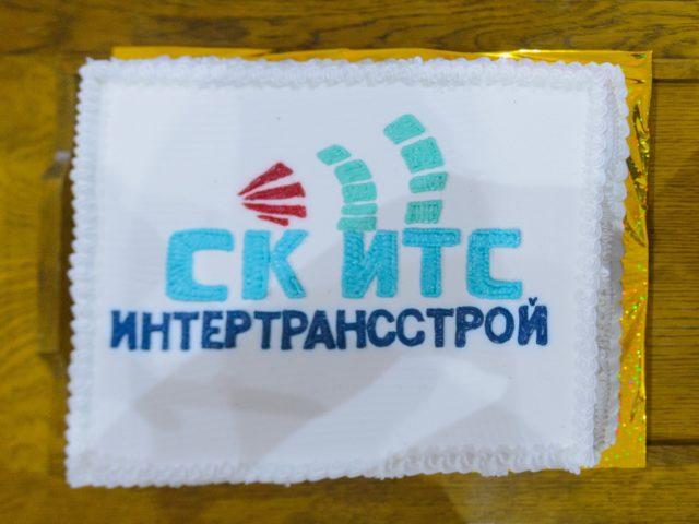 Торт с логотипом ИнтерТрансСтрой