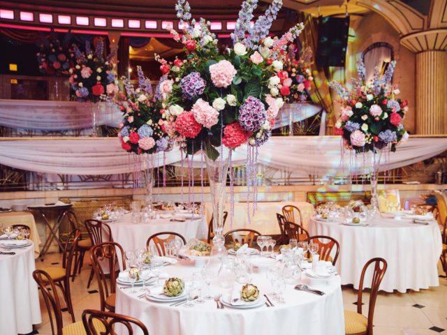 Оформление зала на свадьбе в Немчиновке