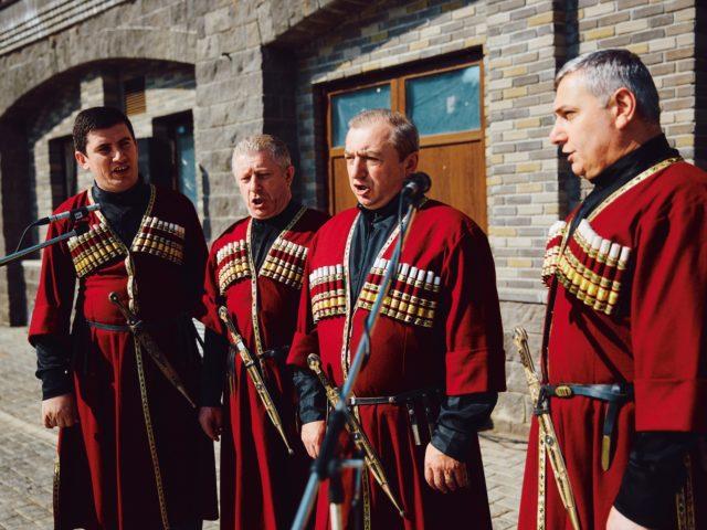 Грузинский ансамбль на свадьбе