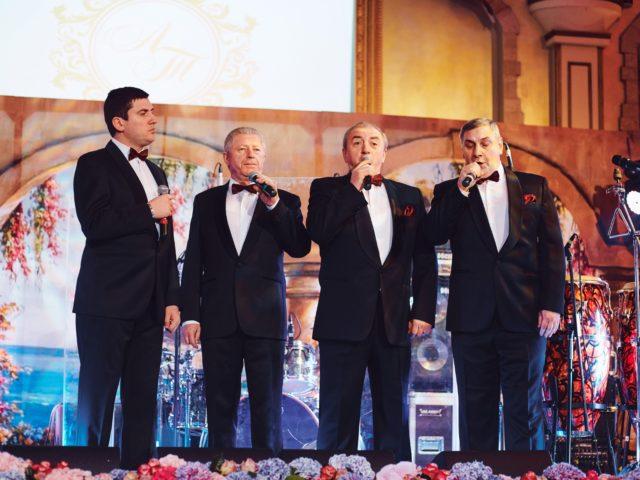 Грузинский квартет на красивой свадьбе