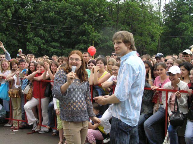 Интерактив на празднике мороженого в Сокольниках