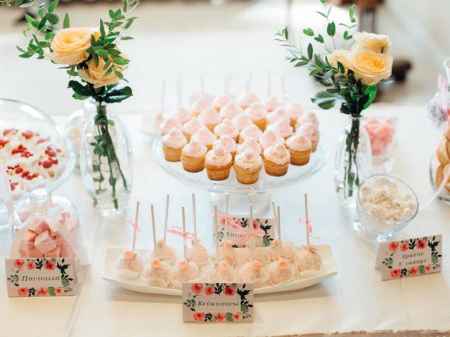 Сладкий стол на свадьбе в Голден Холл