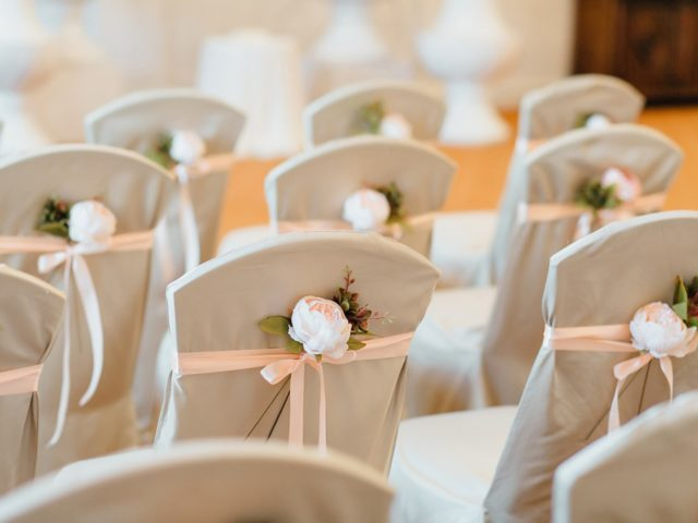 Элементы свадебного декора на выездной церемонии бракосочетания