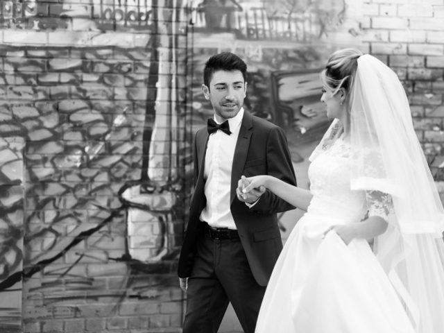 Свадебная фотосесия молодожёнов